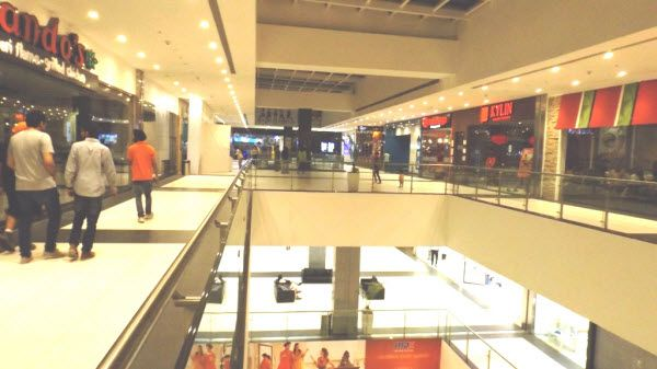 Inside elante mall building