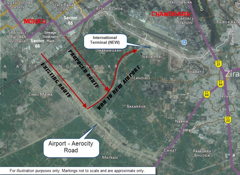 chandigarh airport location map Chandigarh International Airport chandigarh airport location map